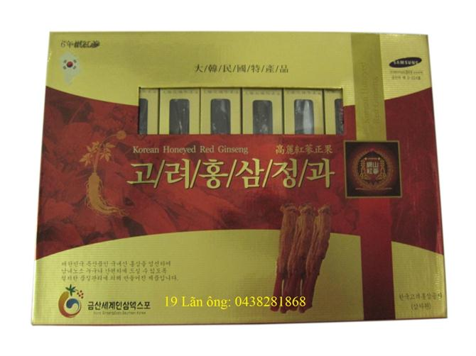 Korean honeyed red ginseng