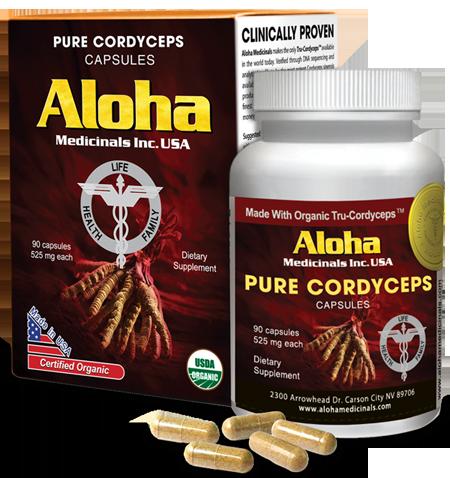 Đông trùng hạ thảo của Mỹ 100% nguyên chất Aloha