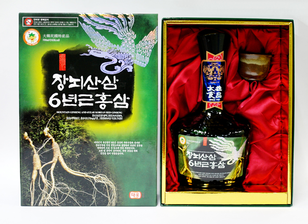 Mountain ginseng and 6 year Korean red ginseng